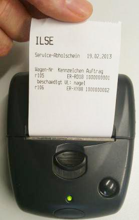 Mobiler Quittungsdruck mit dem ILSE RäderManager