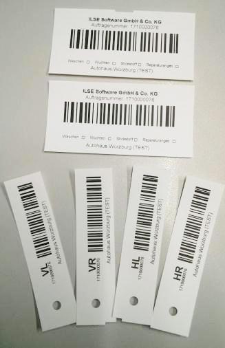 Barcode-Etiketten zur Kennzeichnung der Reifen