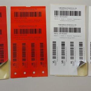ILSE Rädermanager: farbige Etiketten